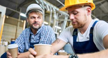 Men Talking Construction